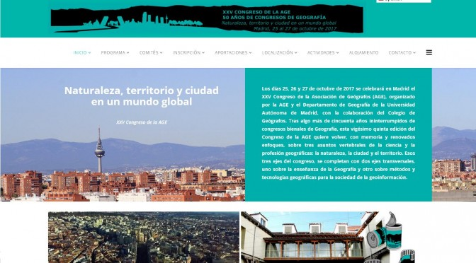 XXV Congreso de la AGE, Naturaleza, territorio y ciudad en un mundo global