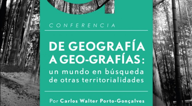 Departamento de Geografía de la Universidad de Chile, invita a Conferencia